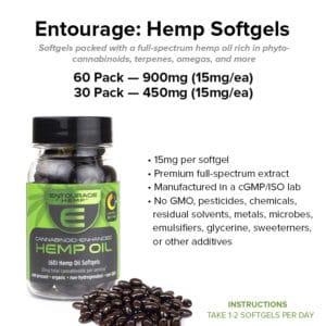 entourage hemp cannabinoid capsules